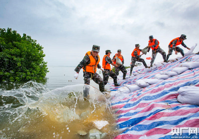 江西鄱阳湖:加固大堤保安全-北京加固公司转载